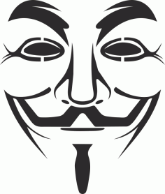 Vendetta Mask Logo Free CDR Vectors Art