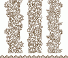 Mehndi Border Designs Free CDR Vectors Art