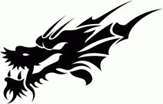 Tribal Dragon Tattoo Design Free CDR Vectors Art