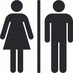 Toilet Man And Woman Sign Free CDR Vectors Art