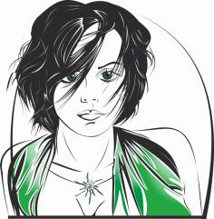 Girl in Free CDR Vectors Art