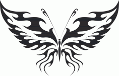 Butterfly Silhouette 011 Free CDR Vectors Art