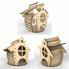 Tea House Hut Vector Layout For Laser Cutting Free CDR Vectors Art
