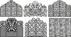 CNC Decorative Pattern Collection Free CDR Vectors Art