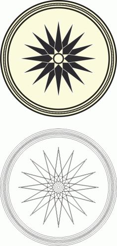 Flower Mandala Ornaments Free CDR Vectors Art
