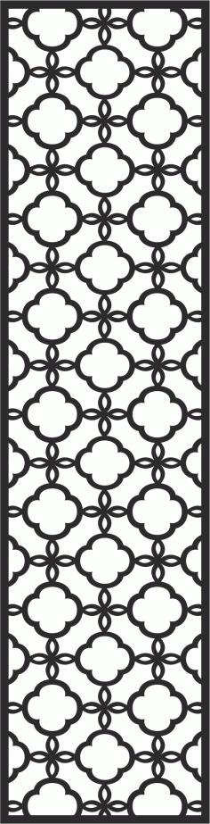 Wrought Iron Window Design Silhouette Free CDR Vectors Art