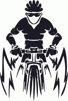 Mountain Bike Free CDR Vectors Art