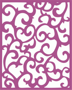 Screen Panel Swirl Free CDR Vectors Art