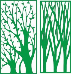 Laser Cut Pattern Tree Free CDR Vectors Art