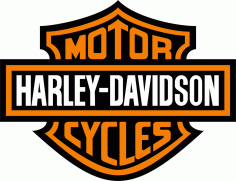 Harley Davidson Logo Free CDR Vectors Art
