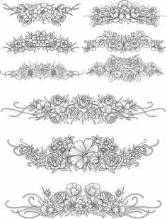 Flowers Decor Set Free CDR Vectors Art