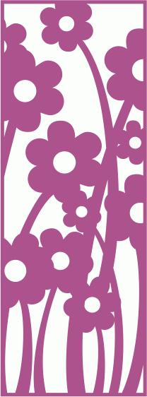 Flowers Screen Panels Free CDR Vectors Art