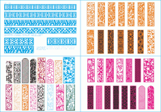 Laser Cut Pattern Collection Free CDR Vectors Art