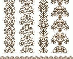 Henna Mehndi Vector Free CDR Vectors Art