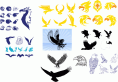 Tribal Wing Tattoos Free CDR Vectors Art
