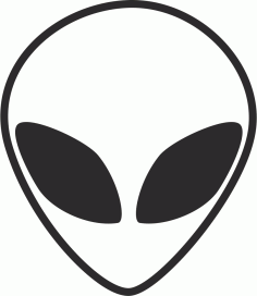 Alien Head Black And White Free CDR Vectors Art
