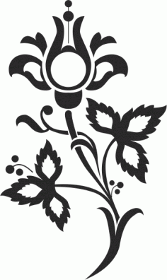 Floral Scrolls Silhouettes Free CDR Vectors Art
