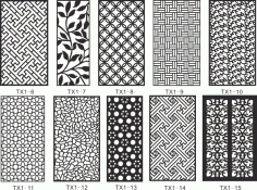 CNC Jali Cutting Pattern Collection Free CDR Vectors Art