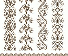 Mehndi style ornamental flower tattoo Free CDR Vectors Art