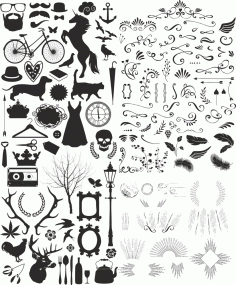 Vintage Eccentric Toolkit Free CDR Vectors Art