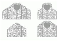 Laser Cut Wedding Screen Pattern Free CDR Vectors Art