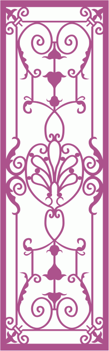 Wrought Iron Grille Pattern Free CDR Vectors Art