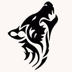 Wolf Tribal Animal Tattoo Free CDR Vectors Art