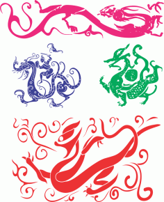 Chinese Dragon Free CDR Vectors Art