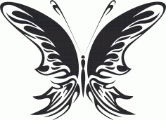 Butterfly Silhouette Design Free CDR Vectors Art