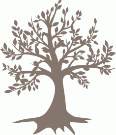 Tree Laser Cut Free CDR Vectors Art
