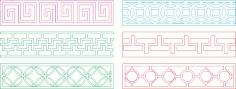 Decorative lattice for CNC machine Free CDR Vectors Art