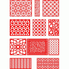 Cnc Panel Laser Cut Pattern File q12 Free CDR Vectors Art