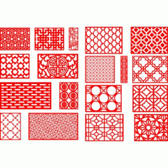 Cnc Panel Laser Cut Pattern File q13 Free CDR Vectors Art