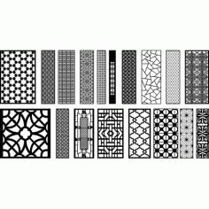 Cnc Panel Laser Cut Pattern File q23 Free CDR Vectors Art
