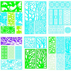 Cnc Panel Laser Cut Pattern File q28 Free CDR Vectors Art