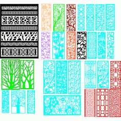 Cnc Panel Laser Cut Pattern File q31 Free CDR Vectors Art