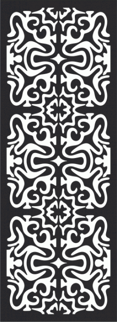 Laser Cut Seamless Decorative Pattern  Free CDR Vectors Art