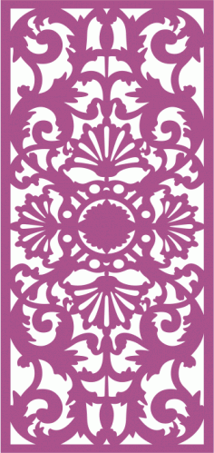 Laser Cut Seamless Decorative Pattern 2 Free CDR Vectors Art