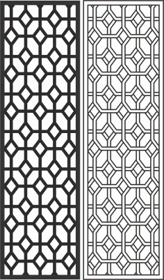 Geometric Screen Panel Free CDR Vectors Art