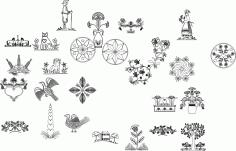 Nature Drawings Free CDR Vectors Art