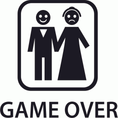 Game Over Sticker Free CDR Vectors Art