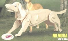 Dog 3D Puzzle Laser Cut Free CDR Vectors Art