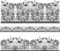 Lace Material Free CDR Vectors Art