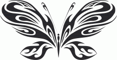 Butterfly Silhouette 020 Free CDR Vectors Art