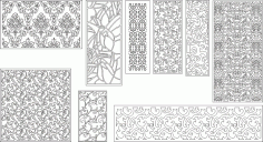 Decorative pattern file to cut in CNC Free CDR Vectors Art