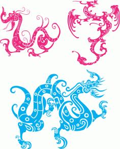 Dragon Totem Free CDR Vectors Art