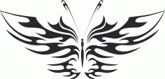 Butterfly Silhouette 017 Free CDR Vectors Art
