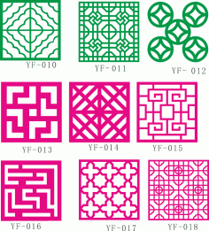 Fence Collection Patterns Free CDR Vectors Art