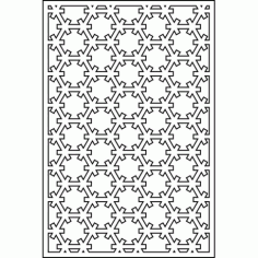 Cnc Panel Laser Cut Pattern File cn-l612 Free CDR Vectors Art