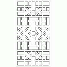 Cnc Panel Laser Cut Pattern File cn-l610 Free CDR Vectors Art